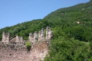 13-Zinnen der Ruine mit Wald
